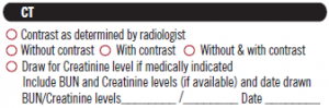 temp CT contrast+creatinine checkboxes
